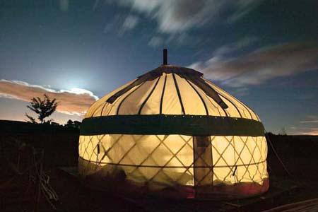 Yurt by Moonlight
